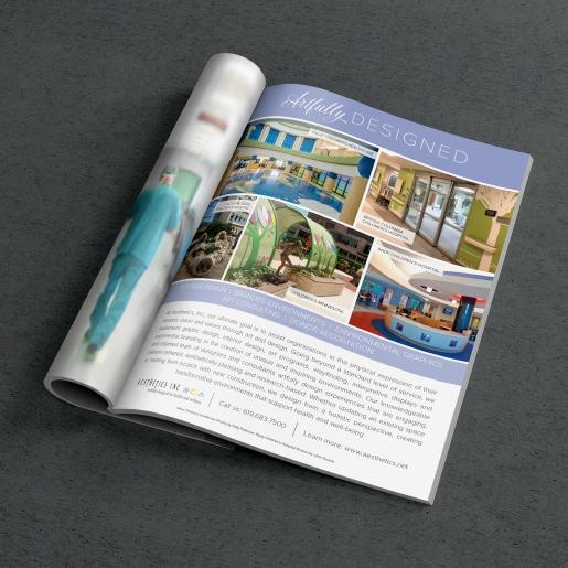 "Aesthetics, Inc. - ""Artfully Designed"" Advertisement"
