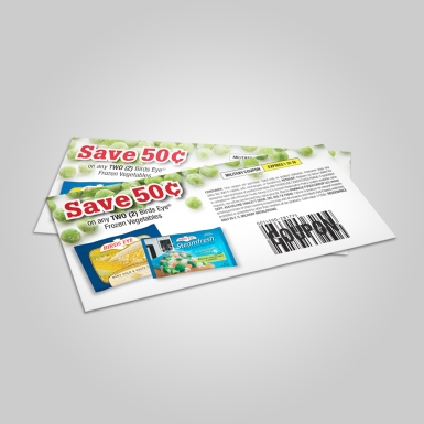Birds Eye Coupon - One of a series of annual coupons I created for Pinnacle Foods