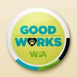 Good Works Button for World Pet Association