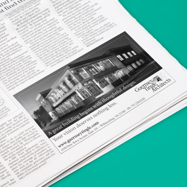 Advertisement for Guernsey Tingle Architects - Inside Business
