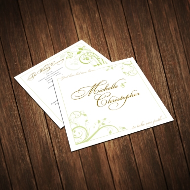 Wedding Program Created for the Staley Couple