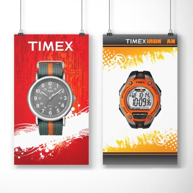 Timex Duratrans - Posters that are ultimately backlit in store fixture