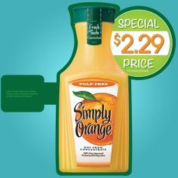 Simply Orange Aisle Violators