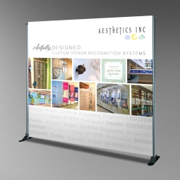 Aesthetics Trade Show Backdrop - 8' x 8'